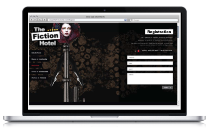 The Fiction Hotel Fuorisalone Website
