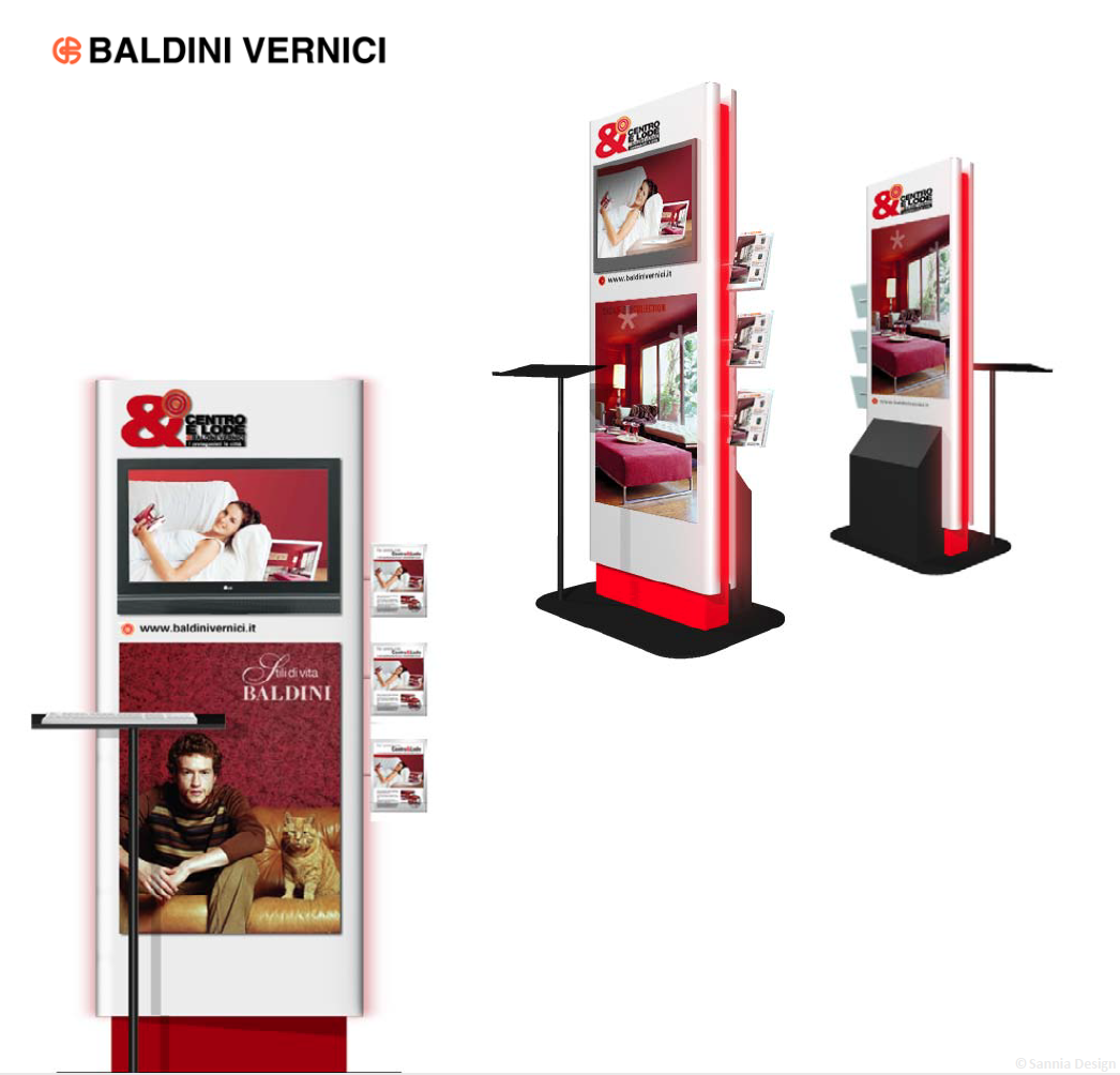 Baldini interactive totem