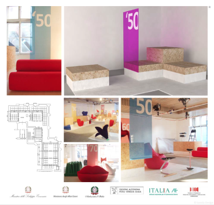 The Italian Way of Seating exhibition design